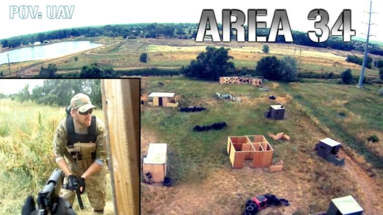 Area 34 Airsoft – Quadcopter CRASH