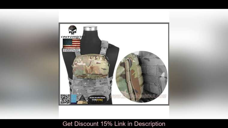 Donner votre avis sur Emersongear Zip Pouch Utility Modular Tactical Pouch EDC Tool Pouch Airsoft Hunting Gear Cyc