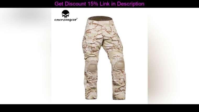 Évaluer Emersongear Tactical G3 Pantalon Combat Gen3 Pantalon Armée Militaire Airsoft Paintball Chasse D