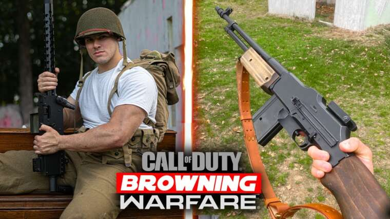 Airsoft WW2 M1918 BAR + Gameplay de soutien Browning M1919 Squad!