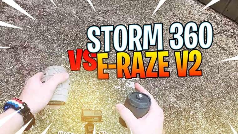 AIRSOFT FRANCE 🇫🇷: grenade STORM 360 vs E-RAZ V2