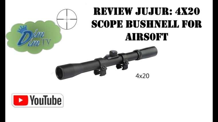 Évaluer Jujur: Lunette de visée 4×20 mm BushneII pour Airsoft