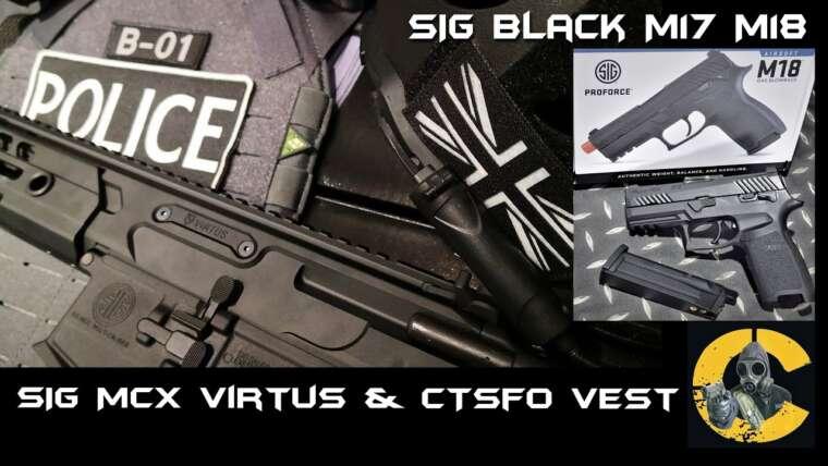 SIG SAUER M18 Black Gbb & MCX Virtus AEG, examen du gilet CTSFO Ver2 par CRW