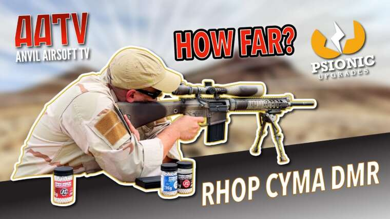Test de la gamme CYMA RHop Airsoft DMR |  Mises à niveau psioniques PSI Hop |  AATV EP157