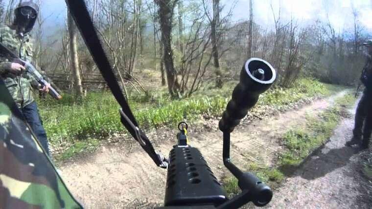 M249 SAW Séquence d'escarmouche Airsoft!