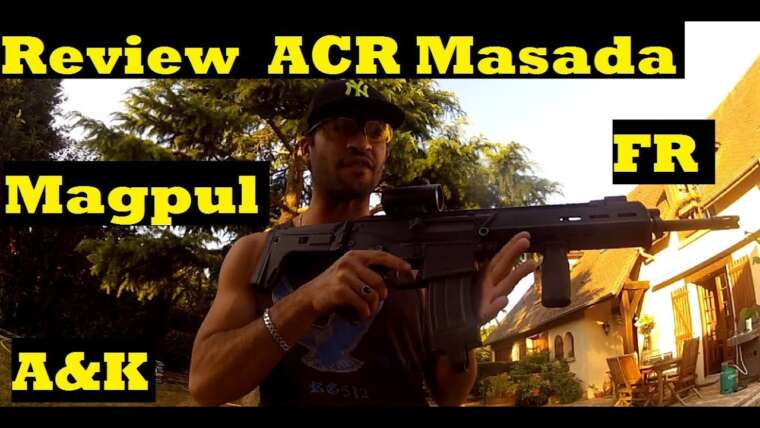 (Airsoft) Présentation / Avis / Test incendie ACR Masada Magpul A&K (FR) {Purple-Haze / CFC} GoPro