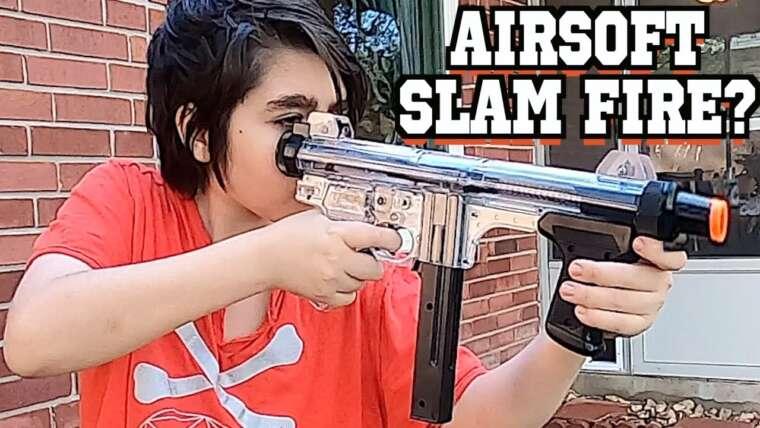 AIRSOFT GUN qui a Slam Fire comme NERF.