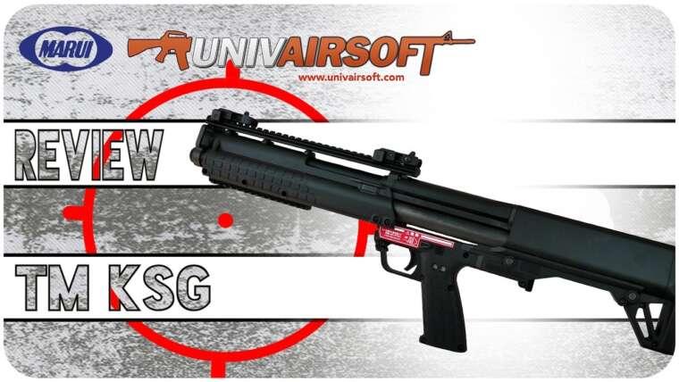 Airsoft Review ENG – Pourquoi ???  Examen du fusil à essence Tokyo Marui KSG avec test de tir – Univairsoft.com