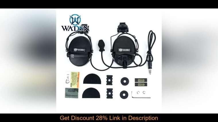 Évaluer WADSN Casque Tactique Sordin Anti-Bruit Tir Militaire Airsoft CS Paintball Pickup