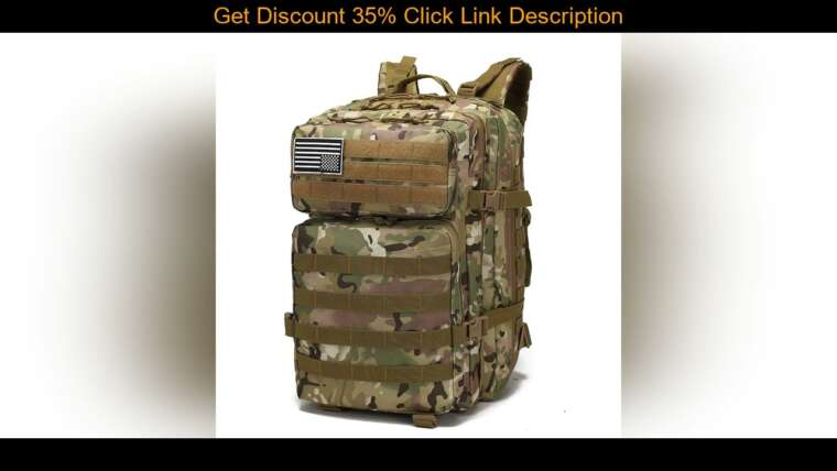 Donner votre avis sur 50L Army Tactical Molle Backpack Camouflage Military Assault Airsoft Rucksack Outdoor Trekki