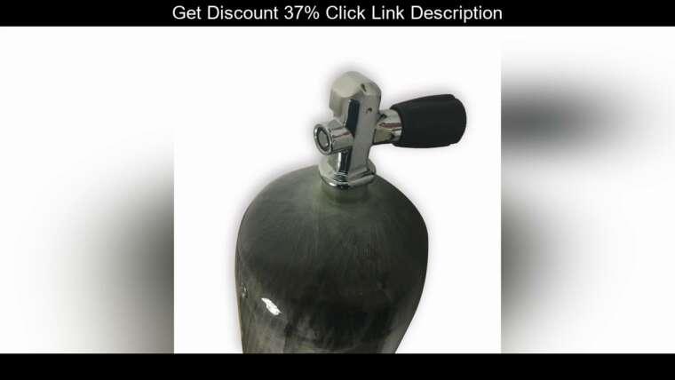 Évaluer AC10951 réservoir de plongée 9L Mini cylindre de plongée 300Bar Din Yoke Valve Pcp Airgun pour Airsoft / Airf