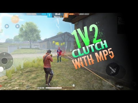 Embrayage 1v2 avec MP5 Headshot    Match de l'escouade de choc Freefire    Doit regarder ça 🎮    Gameplay FREEFIRE  