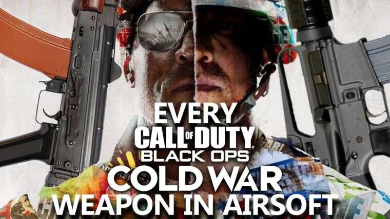 Toutes les armes de la guerre froide de Call of Duty: Black Ops sous forme d'airsoft