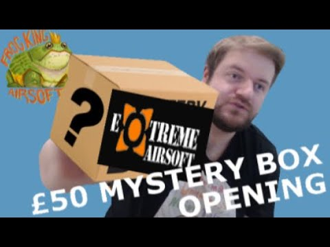 Extreme Airsoft 50 £ MYSTERY BOX Ouverture DOUBLÉE MA VALEUR Airsoft Unboxing