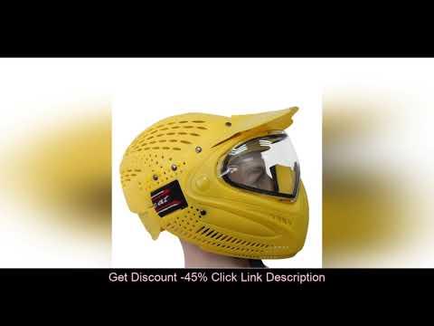 Évaluer Paintball Head Mask Masque facial pour casque de moto Airsoft extérieur Double couche anti-buée Ta