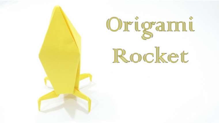 Comment faire une fusée en origami (conçu par easy origami)