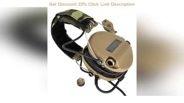 Évaluer SORDIN Tactical Headset Anti-bruit Airsoft Écouteur électronique Réduction du bruit Heari