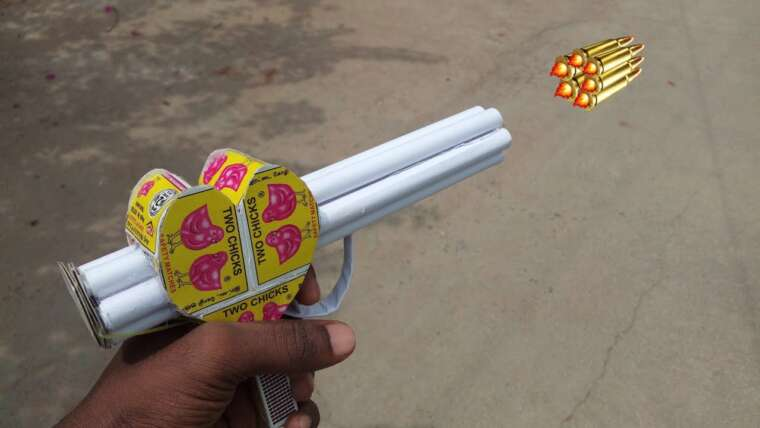 Pistolet Matchbox en forme de coeur    Pistolet à 6 balles    pistolet à papier    PISTOLET JOUET BRICOLAGE    Pistolet à allumettes, pistolet à papier
