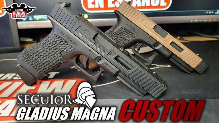 Nouveau Gladius Custom Tier 2 de Secutor ⚔️ |  Revue Airsoft en espagnol