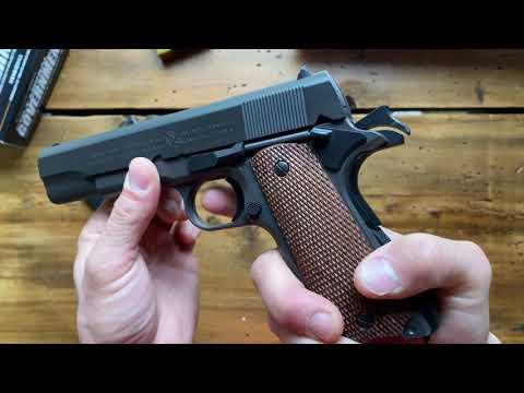 Pistolet à ressort airsoft Colt Government 1911 Review