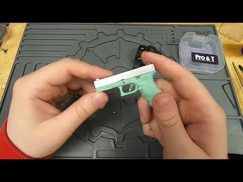 [R005] porte-clés pistolet mini glock entièrement fonctionnel |  examen des jouets airsoft