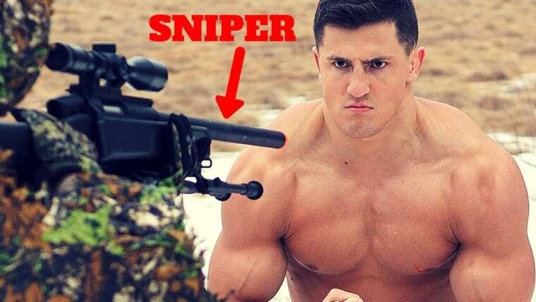 Bodybuilder VS Airsoft SNIPER *HIGH FPS*    Échec du défi Airsoft Gun extrêmement douloureux