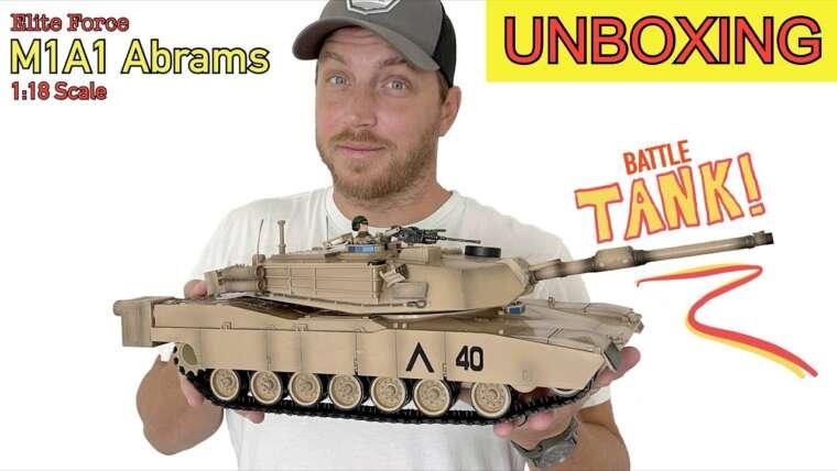 RÉSERVOIR M1A1 Abrams à l'échelle 1:18!  (par Elite Force)