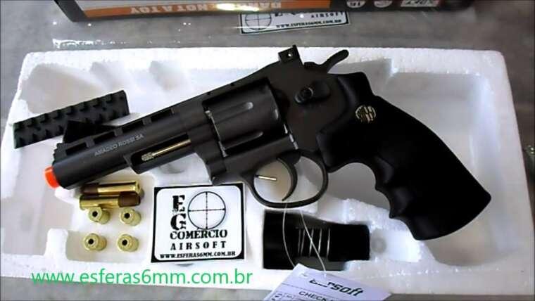 Airsoft – Revolver M701 Co2 6mm – E&G Trade