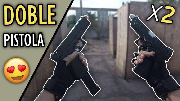 Je vais avec DOUBLE GUN‼ ▬ C'est difficile D :‼ ▬ Gameplay Airsoft