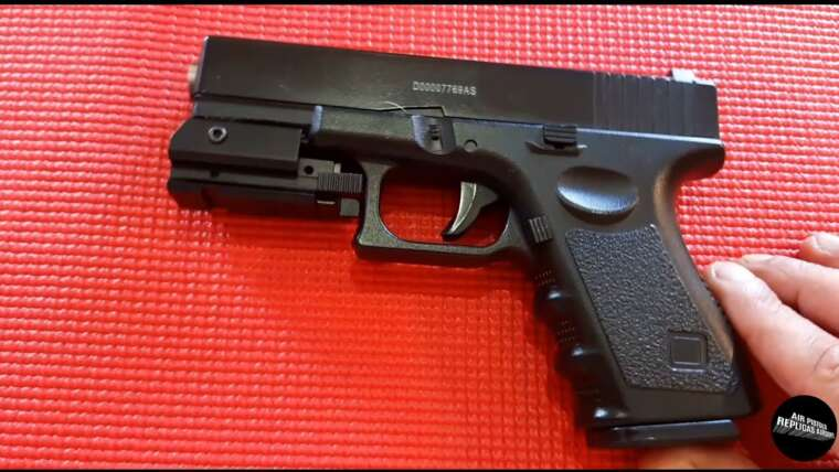 AIRSOFT Galaxy G15 FULL METAL tipo G19 ACCESSOIRES LASER