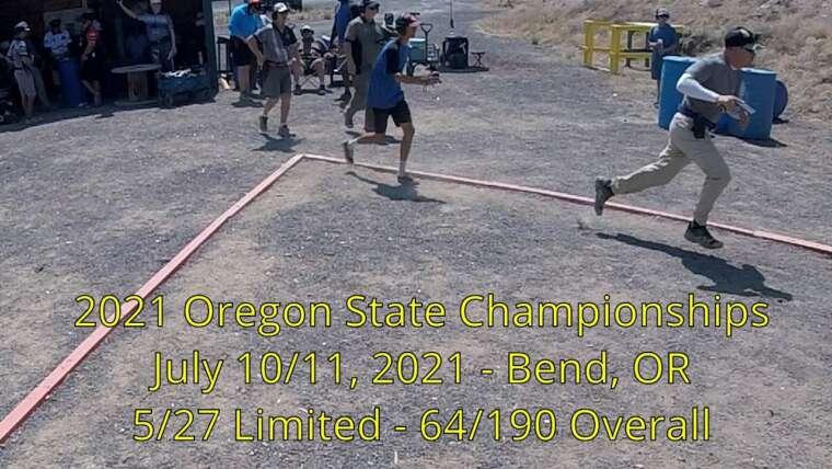 Vidéo du match USPSA – Championnats de l'État de l'Oregon – Bend OR, 10/07/2021 – Jim Susoy – Classe A limitée
