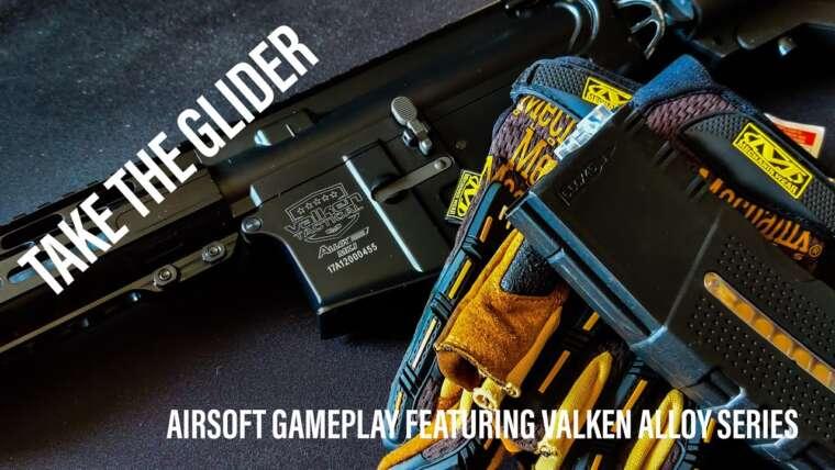 Prenez le planeur.  Gameplay airsoft mettant en vedette le Valken Alloy Series MK1 dans les Highlands écossais