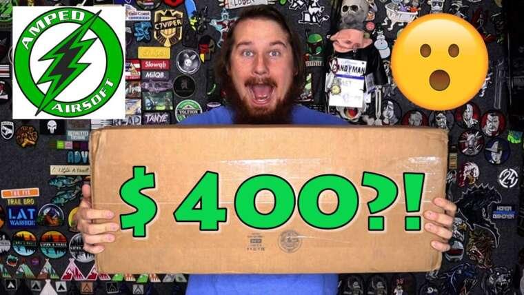 Déballage d'une boîte mystère Amped Airsoft à 400$!  (avec le facteur WOW !)