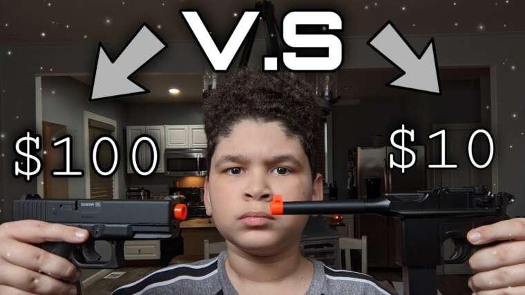 Pistolet Airsoft à 10 $ VS Pistolet Airsoft à 100 $