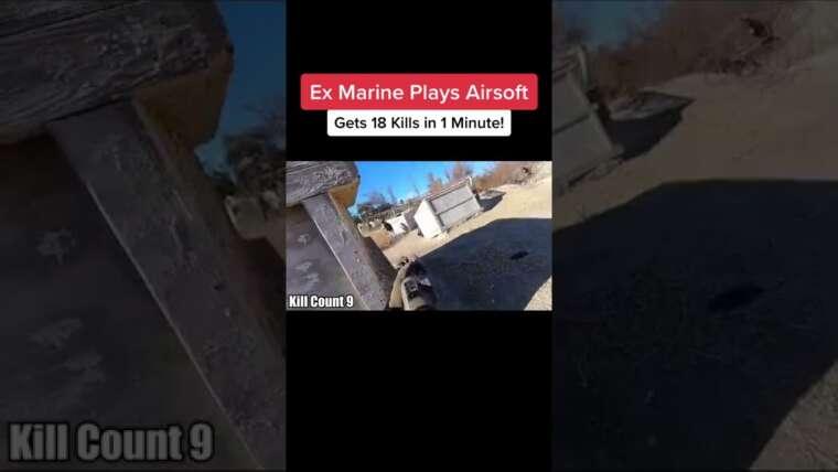 Ex Marine Plays Airsoft Tiktok Car Entertainment