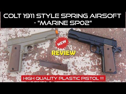 Pistolet Airsoft en plastique à ressort Colt M1911 de meilleure qualité    Avis marin SP02    Je suis Raj Vlogs