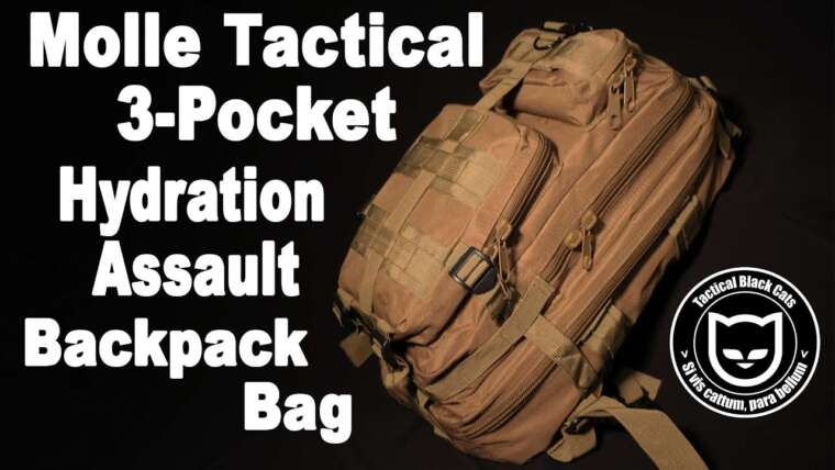 AIRSOFT    REVUE    À confirmer    Molle Tactical 3-Pocket Hydration Assault Sac à dos (SOUS-SOUS ENGLISH)