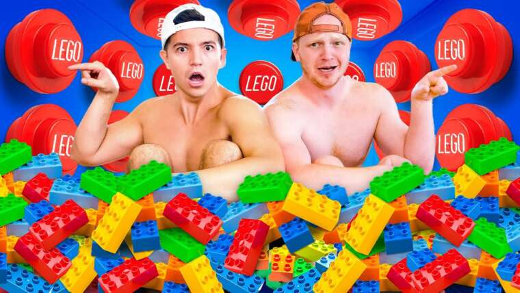 100 boutons mystères LEGO, mais un seul vous permet de vous échapper… ft Unspeakable