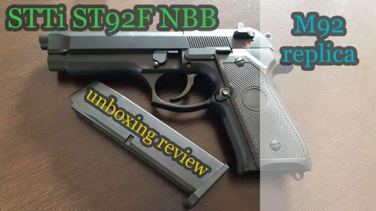 STTi ST92F (réplique Beretta 92) Unboxig & Review