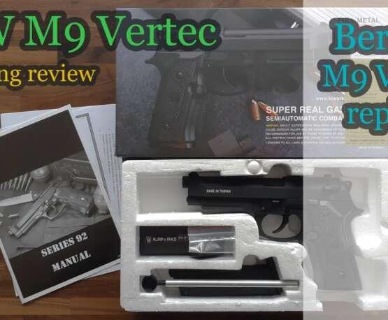 KJW M9 Vertec GBB (réplique Beretta M9 Vertec) Déballage et examen