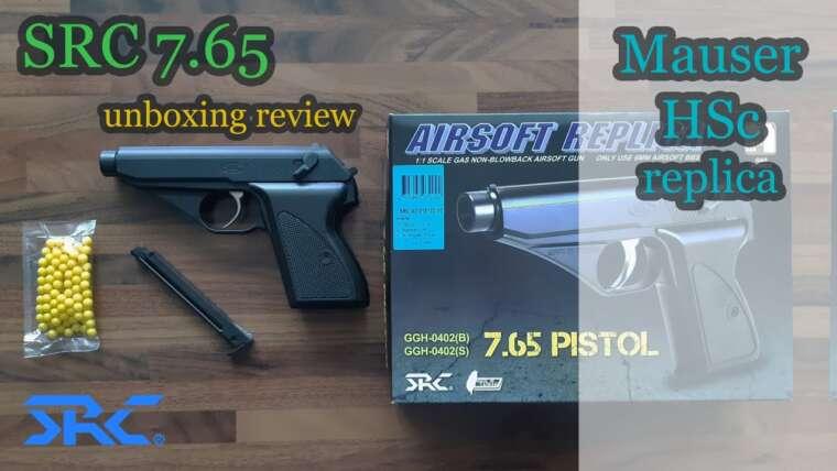 SRC 7.65 (réplique Mauser HSc) Déballage et examen