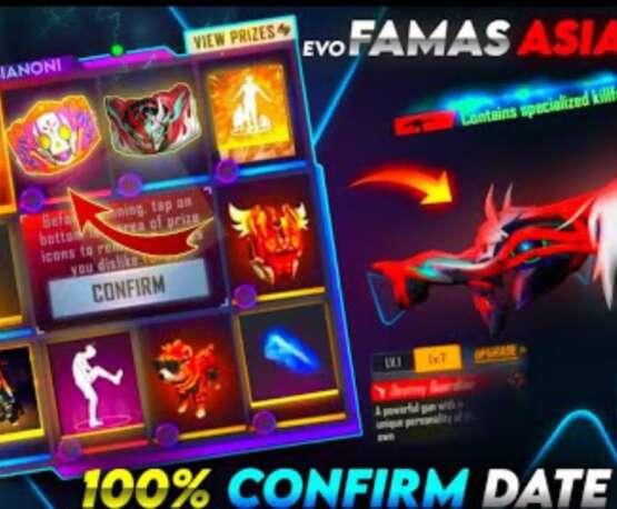 Mise à jour Freefire Tonight|Evo Ump, attributs Evo famas|Confirmation suivante de l'événement de recharge|Malayalam|soulgamers