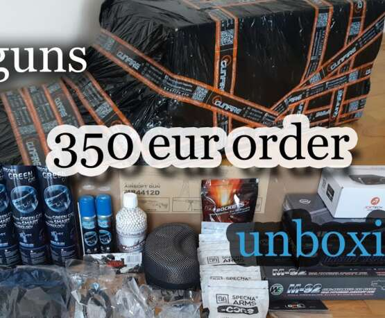 350€ de commande Airsoft au déballage [4 GUNS] [#2 order]