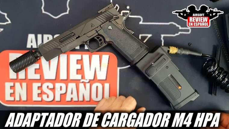 GRANDEUR 🤔 OU ABERRATION🤮 ?  Adaptateur chargeur M4 HPA pour Hi-Capa |  Revue Airsoft en espagnol