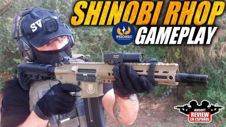 GAMEPLAY Shinobi de Saigo avec RHOP Psionic – Comment se comporte-t-il sur le terrain ?  |  Revue Airsoft en espagnol
