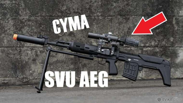 Le fusil de sniper CYMA SVU DMR Airsoft AEG!  – Examen de la vitesse