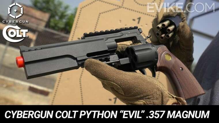 """Python sous licence Cybergun Colt """"Mal"""" Revolver Airsoft à essence .357 Magnum – Instantané"""