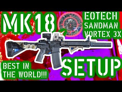 CONFIGURATION DU PISTOLET MK18;  LE MEILLEUR DANS LE MONDE!!!  Forets de rechargement et test de précision